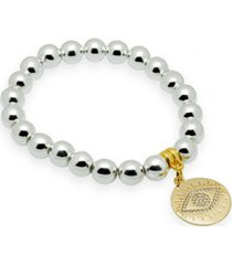 katie's cottage barn hematite gemstone beaded bracelet