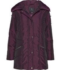 jacket outerwear heavy parka lange jas jas paars brandtex