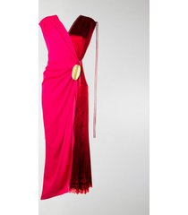 marni wrap-around bicoloured dress
