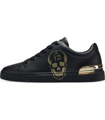 lage sneakers ed hardy - lucky low top black-gold