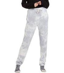 plus size women's volcom lil fleece pants, size x-small - grey