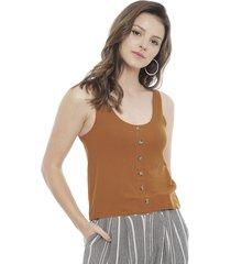blusa only minka marrón - calce holgado