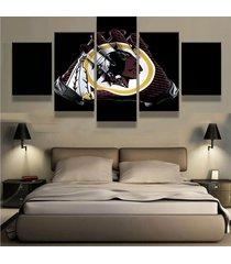 washington redskins glove   5 piece canvas wall art painting print home decor