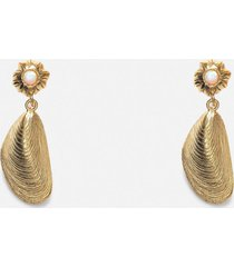 anni lu women's petit moules earring - gold