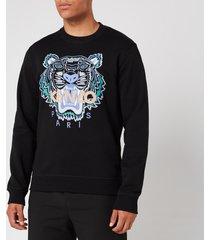 kenzo men's actua tiger sweatshirt - black - xl
