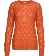 pullover-knit light stickad tröja orange brandtex