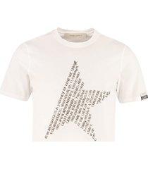 golden goose adamo cotton t-shirt
