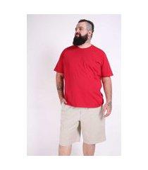 camiseta básica masculina plus size vermelho camiseta básica masculina plus size vermelho p kaue plus size