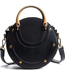bolso mujer pequeño redondo manija 1750 negro