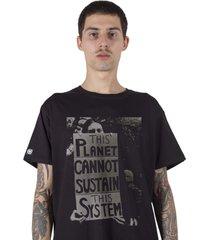 camiseta masculina stoned the system preto