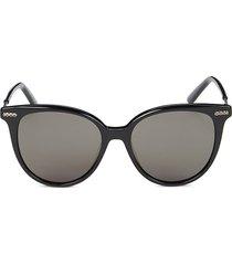 bottega veneta women's 53mm round sunglasses - black