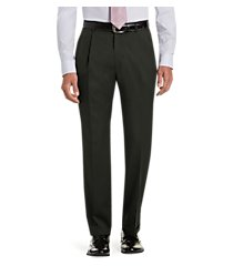 signature collection traditional fit pleated front dress pants - big & tall by jos. a. bank