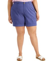 style & co plus size rolled-cuff shorts, created for macy's