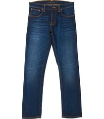 nudie jeans dark deep worn grim tim denim jeans 112764
