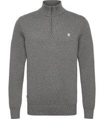 williams river 1/2 zip knitwear half zip jumpers grå timberland