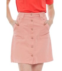 falda only new denim rosa - calce regular