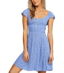billabong juniors' forever yours mini fit & flare dress