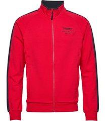 amr track fz sweat-shirt tröja röd hackett