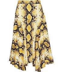 vila knälång kjol gul custommade