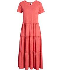 women's caslon tiered knit short sleeve dress