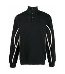 jacquemus blusa gola alta de tricô - preto