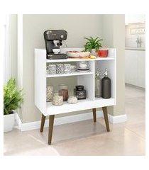 aparador café móveis bechara 1 prateleira 3 nichos branco