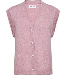 amaris cardigan vest 12758 vests knitted vests roze samsøe samsøe