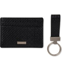 calvin klein men's micro ck cardcase with key wallet