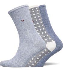 th women sock 3p promo lingerie hosiery socks blå tommy hilfiger