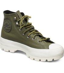 chuck taylor all star höga sneakers grön converse
