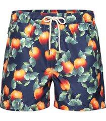 dark orange swim shorts badshorts blå oas
