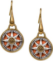 patricia nash compass drop women's earrings