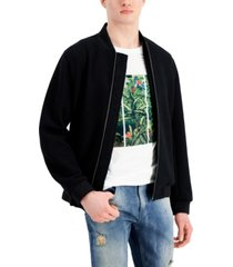 inc international concepts men's textured knit bomber jacket, created for macy's