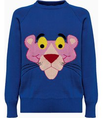 lc23 lc 23 jacquard panther sweater m-401