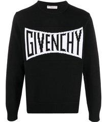 black and white crewneck pullover