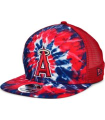 new era los angeles angels tie dye mesh back 9fifty cap