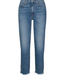 7 for all mankind women's high-rise slim-fit crop jeans - alpine drive - size 30 (8-10)