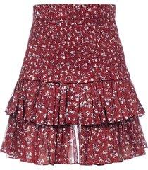 isabel marant étoile naomi floral print cotton miniskirt