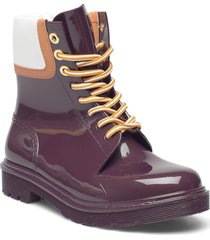 florrie shoes boots ankle boots ankle boot - flat lila see by chloé