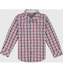 camisa blanco-rojo-gris boboli