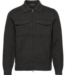 supima® cotton sweater jacket stickad tröja cardigan grå banana republic