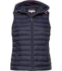 th essential lw dwn vest blauw tommy hilfiger