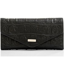 brahmin leather veronica black bergen envelope wallet
