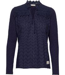 of a kind top blouse lange mouwen blauw odd molly