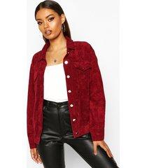 oversize cord jacket, berry