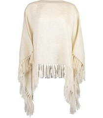 metallic fine knit poncho