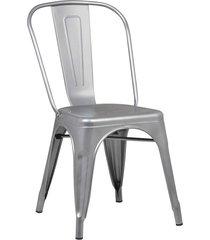 conjunto 02 cadeiras iron cinza rivatti - cinza - dafiti