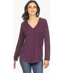lilla p double v-neck tunic top
