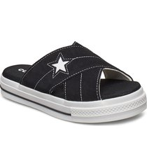 star sandal shoes summer shoes flat sandals svart converse