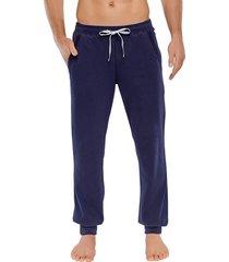 schiesser pyjamabroek jersey boord blauw